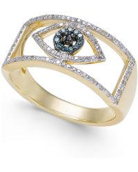 Wrapped in Love - Diamond Evil Eye Ring (1/6 Ct. T.w.) In 10k Gold - Lyst