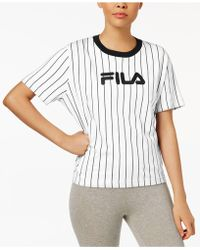 Fila - Lonnie Cotton Pinstriped T-shirt - Lyst