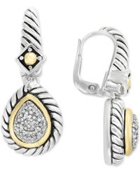 Effy Collection - Balissima By Effy® Diamond Drop Earrings (1/5 Ct. T.w.) In Sterling Silver & 18k Gold - Lyst