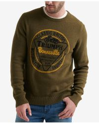 6afebd7c50312 Lucky Brand - Long Sleeve Crew Neck Triumph Sweater - Lyst