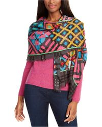Echo - Graphic Patchwork Oblong Scarf - Lyst
