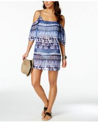 Bleu Rod Beattie - Tie-dyed Off-the-shoulder Cover-up - Lyst
