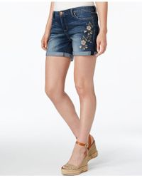Vintage America | Claudia Embroidered Shorts | Lyst