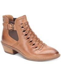 Söfft - Verlo Huarache Ankle Booties - Lyst