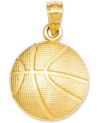 Macy's - 14k Gold Charm, Basketball Charm - Lyst