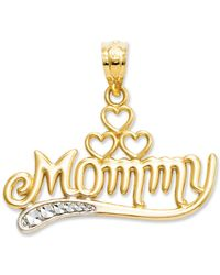 Macy's - 14k Gold And Sterling Silver Charm, Mommy Charm - Lyst