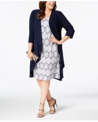 R & M Richards - Plus Size Printed Dress And Jacket - Lyst