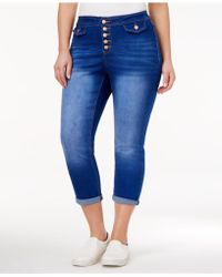 Rampage - Trendy Plus Size Cropped Maiden Wash Skinny Jeans - Lyst