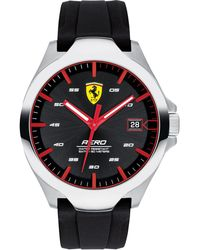 Ferrari - Aero Black Silcone Strap Watch 44mm - Lyst