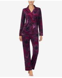 DKNY - Notch-collar Pajama Top - Lyst