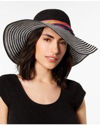 Betsey Johnson - Stripe Me Over Floppy Hat - Lyst