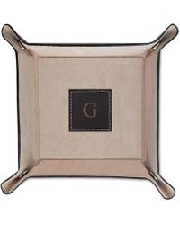 Bey-berk - Monogrammed Brown Leather Snap Valet - Lyst