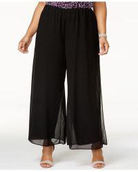 Alex Evenings - Plus Size Wide-leg Pants - Lyst