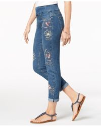 Style & Co. - Embroidered Boyfriend Jeans, Created For Macy's - Lyst