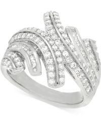Wrapped in Love - Diamond Statement Ring (1 Ct. T.w.) In Sterling Silver - Lyst