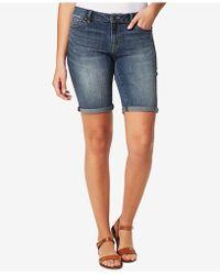 Vintage America | Boho Denim Bermuda Shorts | Lyst