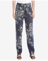 Karen Kane - Drawstring Printed Trousers - Lyst