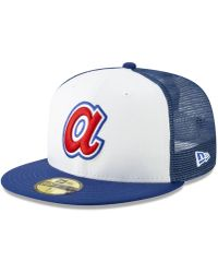 good ccb31 e63f1 KTZ Atlanta Braves Metal   Thread 59fifty-fitted Cap in Blue for Men - Lyst