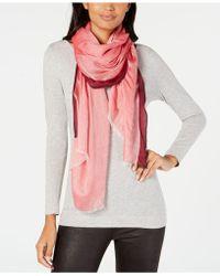 Calvin Klein - Stripe-border Chambray Scarf - Lyst