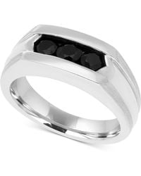 Macy's - Men's Black Sapphire Ring (1 Ct. T.w.) In Sterling Silver And Black Rhodium Plate - Lyst