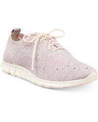 Cole Haan - Zerøgrand Stitchlite Wingtip Oxford Sneakers - Lyst