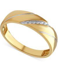 Beautiful Beginnings - Men's Diamond Accent Ring In 14k Gold - Lyst