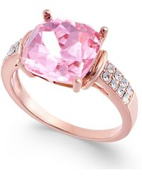 Charter Club - Rose Gold-tone Stone & Crystal Statement Ring - Lyst