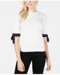 Maison Jules - Striped-sleeve Sweater, Created For Macy's - Lyst