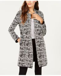 Alfani - Plus Size Textured Jaquard Open-front Jacket, Created For Macy's - Lyst