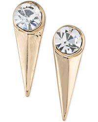 ABS By Allen Schwartz - Gold-tone Crystal Spike Drop Earrings - Lyst