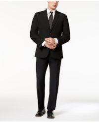 Tommy Hilfiger | Men's Slim-fit Stretch Performance Black Solid Suit | Lyst