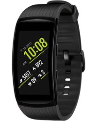 Samsung - Unisex Gear Fit2 Pro Liquid Black Rubber Smart Watch 25x51mm - Lyst