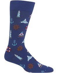 Hot Sox - Nautical Icons Socks - Lyst