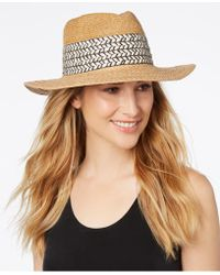 Nine West - Mixed-texture Panama Hat - Lyst