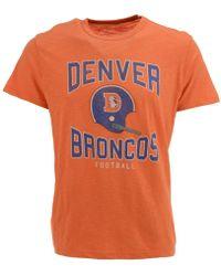 47 Brand - Denver Broncos Retro Logo Scrum T-shirt - Lyst