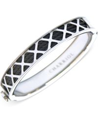 Charriol - Womens Black And Silver-tone Multi-x Cable Bangle Bracelet - Lyst
