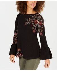 Style & Co. - Cotton Floral-jacquard Detailed Top, Created For Macy's - Lyst