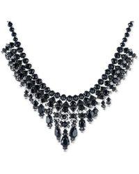 Carolee - Hematite-tone Black Stone Beaded Statement Necklace - Lyst