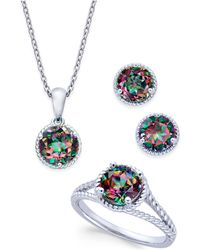 Macy's - Mystic Quartz Rope-style Pendant Necklace, Stud Earrings And Ring Set (4 Ct. T.w.) In Sterling Silver - Lyst