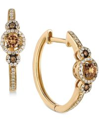 Le Vian | Diamond Hoop Earrings (3/8 Ct. T.w.) In 14k Gold | Lyst
