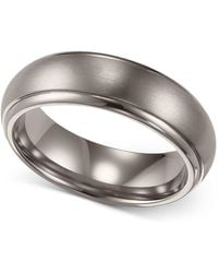 Triton - Men's Titanium Ring, Comfort Fit Wedding Band (6mm) - Lyst