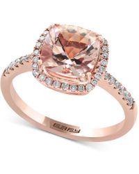 Effy Collection - Morganite (1-5/8 Ct. T.w.) And Diamond (1/4 Ct. T.w.) Ring In 14k Rose Gold - Lyst