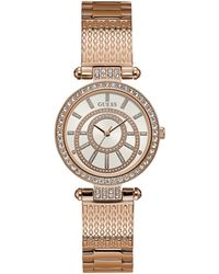 Guess - Women's Rose Gold-tone Stainless Steel Bracelet Watch 32mm - Lyst