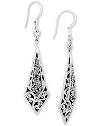 71d3752e8 Lois Hill - Scroll Work & Filigree Drop Earrings In Sterling Silver - Lyst