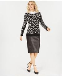 Charter Club - Pure Cashmere Graphic Boatneck Sweater In Regular & Petites Sizes, Created For Macy's - Lyst