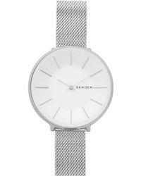 Skagen - Karolina Stainless Steel Mesh Bracelet Watch 38mm - Lyst
