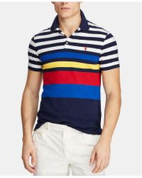 31284c0f Polo Ralph Lauren Classic-fit Mesh Polo Shirt in Orange for Men - Lyst