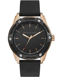 Sean John - Men's Corsica Black Silicone Strap Watch 46mm - Lyst