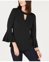 Charter Club - Bell-sleeve Keyhole Top, Created For Macy's - Lyst