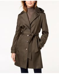 Calvin Klein - Belted Waterproof Trench Coat - Lyst